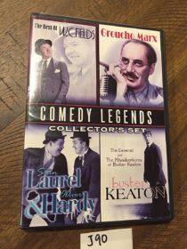 Comedy Legends Collector's Set: W.C. Fields, Groucho Marx, Laurel & Hardy, Buster Keaton (2009) [J90]