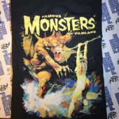 Famous Monsters of Filmland Black T-Shirt with Frank Frazetta Fantasy Artwork XL [6102]