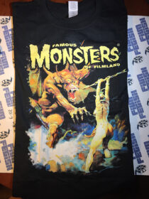 Famous Monsters of Filmland Black T-Shirt with Frank Frazetta Fantasy Artwork XL [6102]