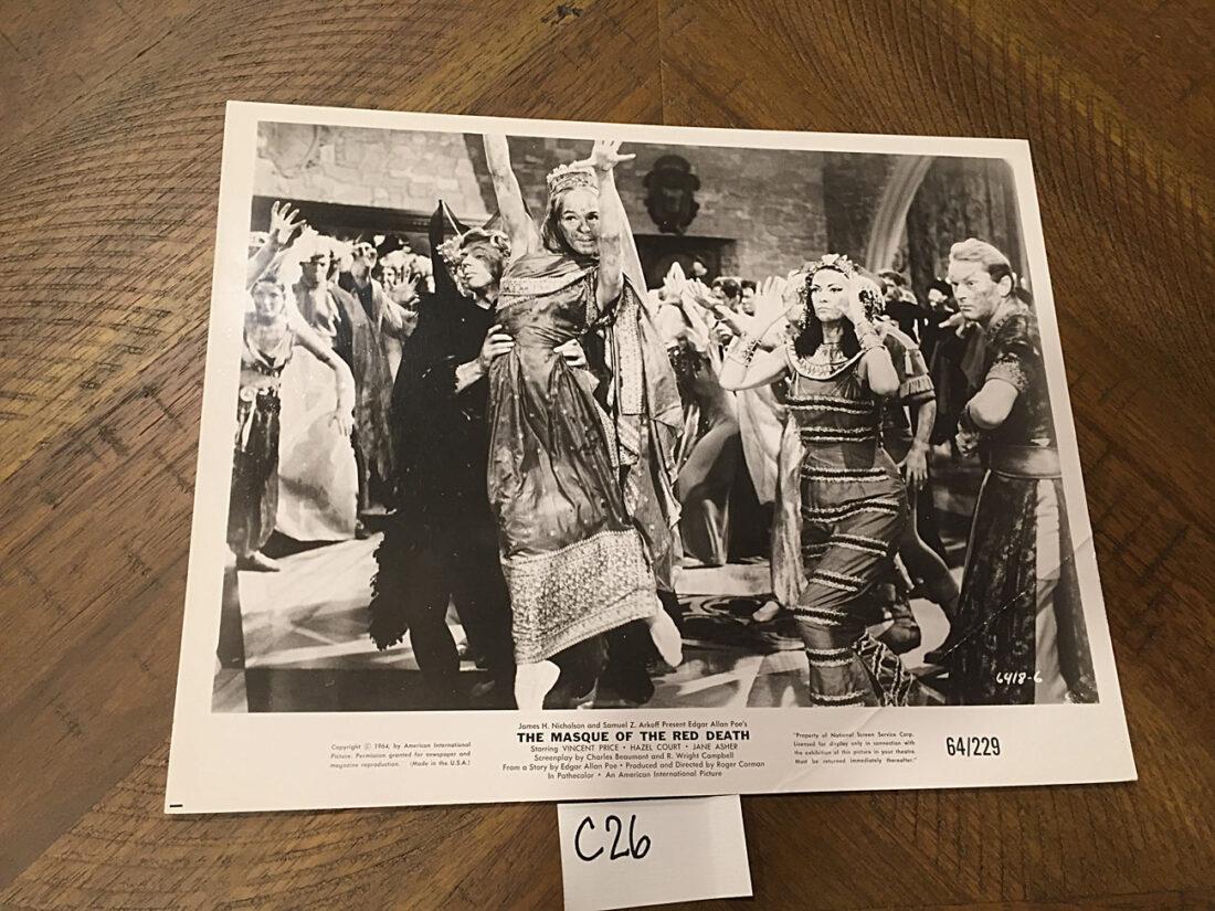 The Masque of the Red Death Original Press Photo (1964) [C26]