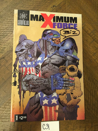 Maximum Force Comic Issue Number 1 Variant (2002) Signed by Cover Artist Simon Bisley [C31]