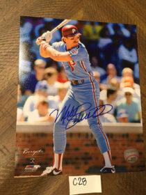 Philadelphia Phillies Third Baseman Mike Schmidt Signed 8 x 10 Full Color Photo + Event Ticket (2019)