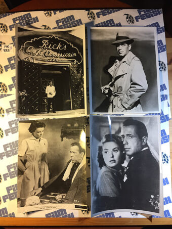 Lot of 8 Original Press Publicity Photos of Humphrey Bogart [PHO883]