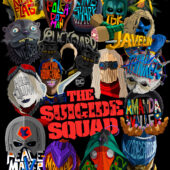 Two teaser posters for The Suicide Squad