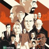 Breaking Bad Group Collage Portraits 22 x 34 inch TV Series Poster