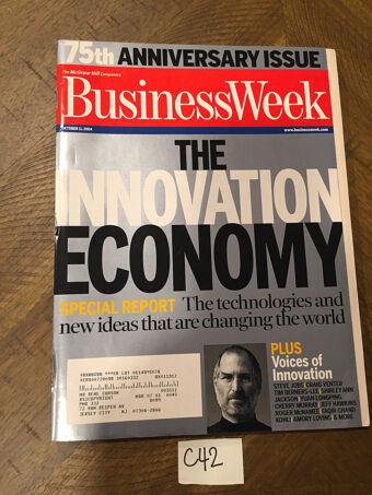 BusinessWeek Magazine 75th Anniversary Issue Oct. 11, 2004 Steve Jobs Cover [C42]