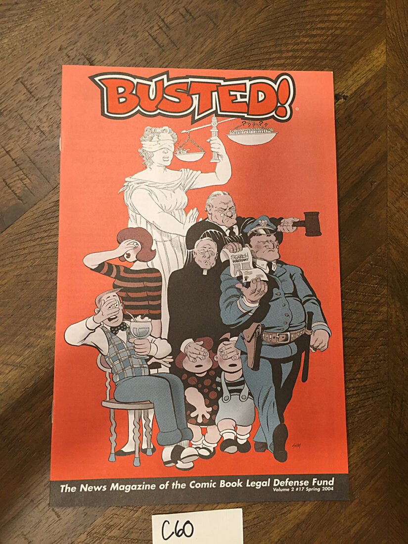 Busted: Comic Book Legal Defense Fund Magazine (Spring 2004) [C60]