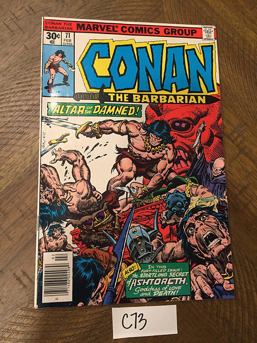 Conan the Barbarian Marvel Comics No. 71 (February 1977) Robert E. Howard, John Buscema, Ernie Chan [C73]