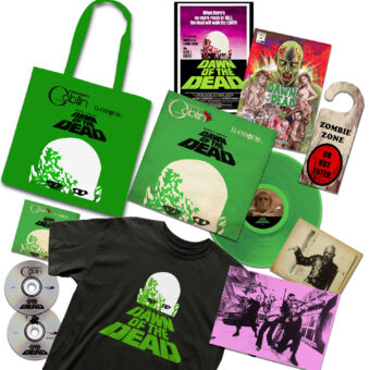 Claudio Simonetti's Goblin Dawn Of The Dead Soundtrack Limited 40th Anniversary Box Set + T-Shirt + Rare Comic