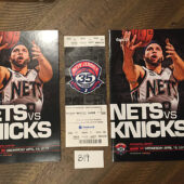 NBA New Jersey (Brooklyn) Nets vs New York Knicks Official Program + Ticket 35th Anniversary Last NJ Season (April 18, 2012) No. 8 Deron Williams [B19]