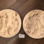 Studio Dante di Volteradici Adorazione Dei Magi Plate, La Nativita Set of 2 (1983) [B06]