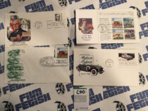 Set of 450 US Postage Stamp First Day Cancelled Cover Envelopes – Various Subjects Including Babe Ruth [C40]