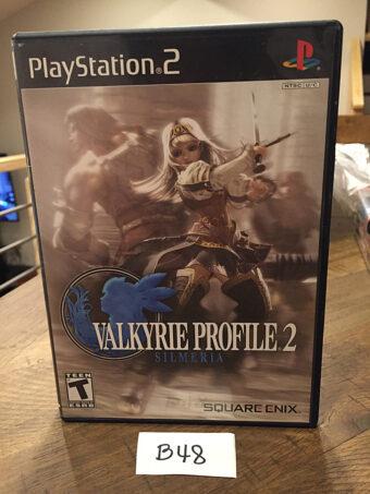 Valkyrie Profile 2: Silmeria with Manual (SLUS 21452, PlayStation 2, 2006) Square Enix [B48]