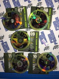 Set of 5 Official X Box Magazine Game Demo Discs No. 7, 8, 9, 10, 11 [9082]