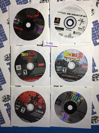 Set of 6 Assorted PlayStation / PlayStation 2 Games and Demo Discs [9085]