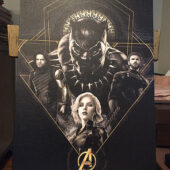 Avengers: Infinity War Black Panther, Captain America, Black Widow, Winter Soldier Portraits 16 x 24 inch Movie Poster Canvas Print