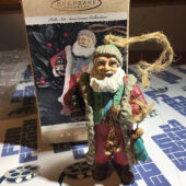 Hallmark Keepsake Ornament: Folk Art Americana Collection Santa's Gifts Showcase (1996)
