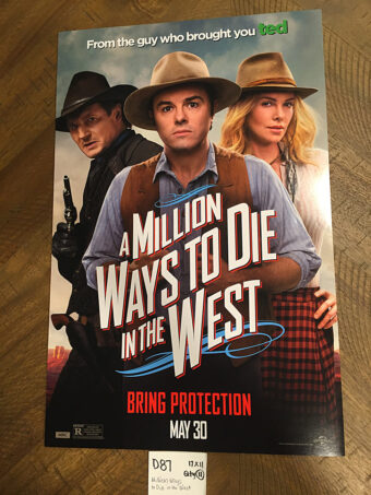 A Million Ways to Die in the West 11×17 inch Original Promotional Movie Poster (2014) [D87]