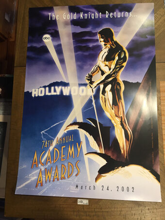 74th Annual Academy Awards 26 x 39 inch Official Poster Painted by Comic Artist Alex Ross (2002) [D58]