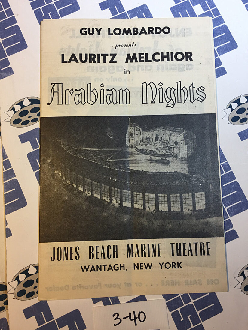 Lauritz Melchior in Arabian Nights at Jones Beach Marine Theatre Original Program