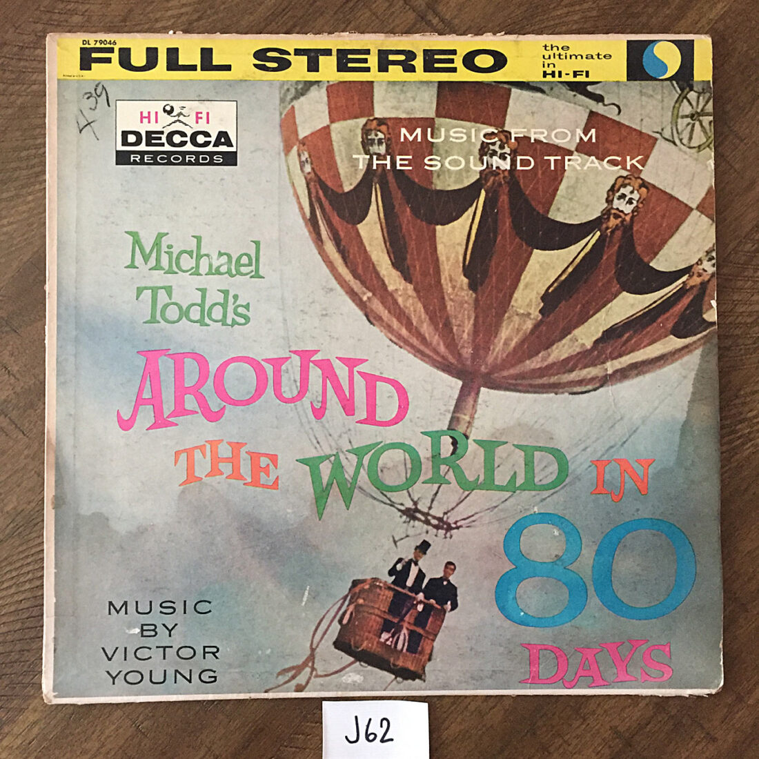 Michael Todd's Around the World in 80 Days Music Soundtrack by Victor Young Original Vinyl Edition (DL79046) [J62]