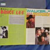 Bruce and Brandon Lee 11×15 inch Foldout Poster Karate International Magazine