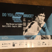 RARE Do You Know Bruce Lee? Breaking Barriers Wing Luke Museum 24×18 inch Exhibit Poster (2015)