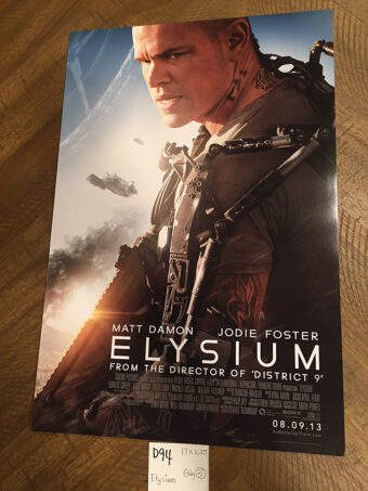 Elysium 11×17 inch Original Promotional Movie Poster (2013) Matt Damon [D94]