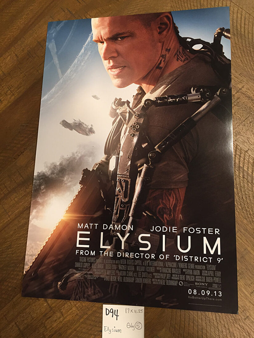 Elysium 11×17 inch Original Promotional Movie Poster (2013) Matt Damon [D94]