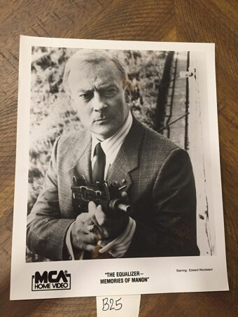 The Equalizer Memories of Manon 8×10 inch Original Press Photo – Edward Woodward as Robert McCall [B25]