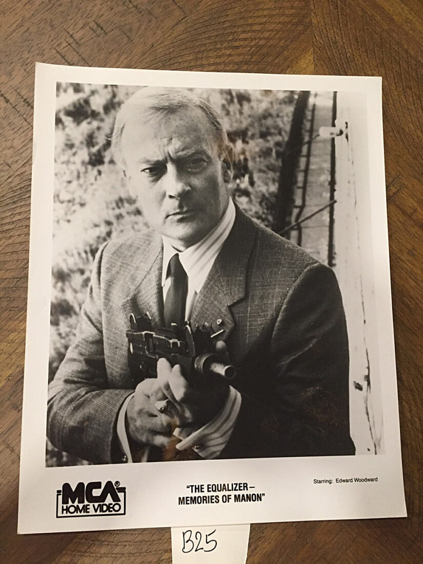 The Equalizer Memories of Manon 8×10 inch Original Press Photo – Edward Woodward as Robert McCall [B25]
