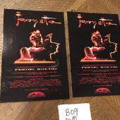 Frank Frazetta: Painting with Fire Documentary Hollywood Premiere Set of 2 Postcard Invitations – Egyptian Theatre May 8, 2003 [B09]