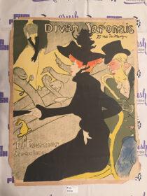 Henri de Toulouse Lautrec Le Divan Japonais Original Lithographic Poster Print 19 x 24 Inch