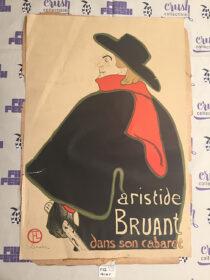 Henri de Toulouse Lautrec Aristide Bruant dans son cabaret Original Lithographic Poster Print 18 x 26 Inch