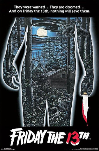 Friday the 13th 22 x 34 inch Movie Poster