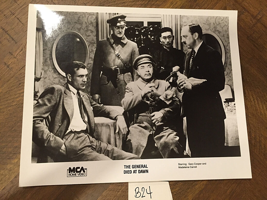The General Died at Dawn Original Home Video Press Photo – Gary Cooper, Madeleine Carroll (1936) [B24]