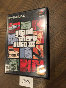 Grand Theft Auto III Sony PlayStation 2 Video Game with Manual (2003) [B53]