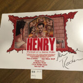 Henry: Portrait of a Serial Killer Michael Rooker-Signed 15×10 inch Screening Poster [E01]
