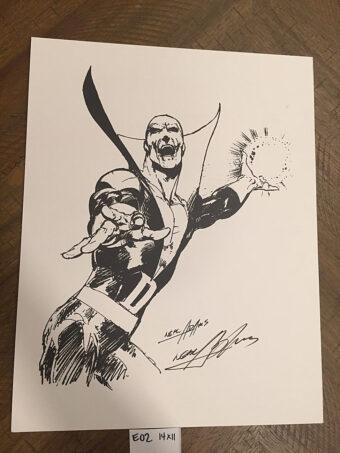 DC Comics Deadman (Boston Brand) 11×14 inch Lithograph Art Sketch Print Signed by Artist Neal Adams [E02]