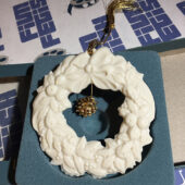 Lenox Vintage Wreath with Tree Charm Christmas Ornament