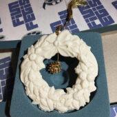 Lenox Vintage Wreath with Tree Charm Christmas Ornament