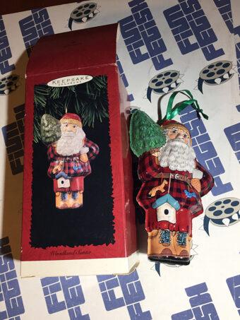 Hallmark Keepsake Ornament – Pressed Tin Woodland Santa (1996)