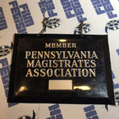 Pennsylvania Magistrates Association Member Vintage Metal Sign