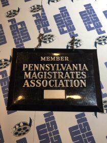 Pennsylvania Magistrates Association Member Vintage Metal Sign