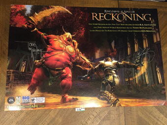 Reckoning Kingdoms of Amalur PS3 PlayStation 3 Todd McFarlane-Signed 36×24 inch Game Poster (2012) [D06]