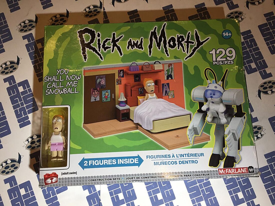 McFarlane Builds Rick and Morty Adult Swim You Shall Now Call Me Snowball Construction Set