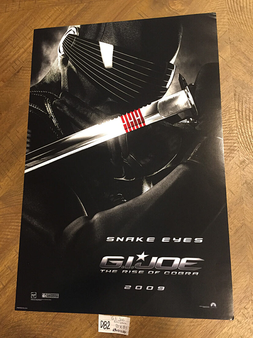 G.I. Joe: The Rise of Cobra 13×20 inch Movie Poster – Snake Eyes Character Portrait (2009) [D82]