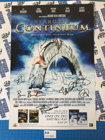 Stargate: Continuum Cast-Signed 13 x 20 inch Promotional Poster (2008) [A66]