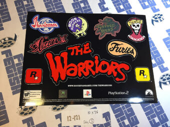 RARE The Warriors Game PlayStation 2 Original Promotional Sticker Set [12121]