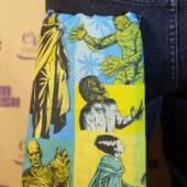 Universal Monsters: The Mummy Dracula Frankenstein Wolfman Collage Pattern Bandana